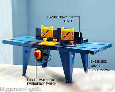 "Deluxe Router Table Spindle Moulder For 1/4"" Router Aluminium Work Bench"