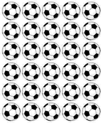30x Football Balls Cupcake Toppers Edible Wafer Paper Fairy Cake Toppers