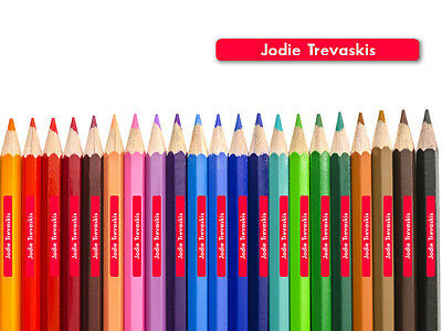 60+ Personalised Tiny Name Labels, Pencil Stickers for School Kids