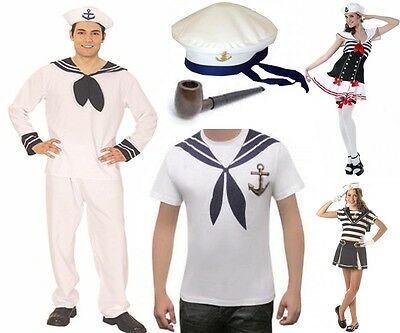 Mens Womens Sailor Fancy Dress Kit Sets Costumes Olive Strong Man Pipe Spinach