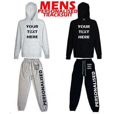 Mens Personalised Tracksuit | Custom Hooded Tracksuit | Business Promotion