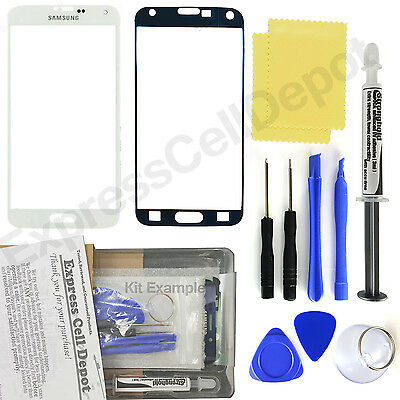 White Samsung Galaxy S5 G900 Front Outer Glass Screen Replacement Repair Kit