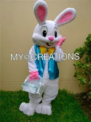New Professional Easter Bunny  Mascot  The Same As Picture!!!!!