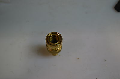 Brass Quick-Disconnect Female Fitting& Barb 1/2