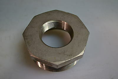"""Hex Bushing 3""""m X 1-1/2""""f Stainless Steel Type 150 Psi Male-Female Npt"""