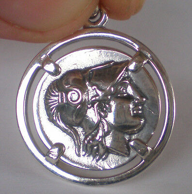 Goddess Athena Silver Pendant Alexander The Great Lifetime Stater
