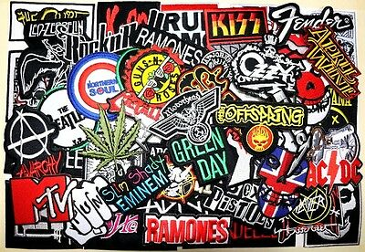 WHOLESALE Lot 50 Punk Rock Music Band Collectible Shirt Embroidery Iron patch #1