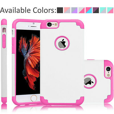 For iPhone 6/6S/6 plus/6S plus Phone Dual Layer Hybrid Soft Slim Back Case Cover