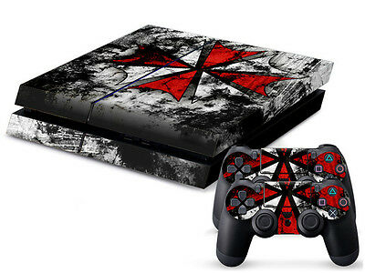 New Biohazard Sticker Cover Skin For PS4 Playstation 4 Console Controller Xmas