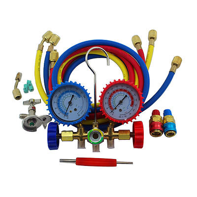 R134A R22 536G Manifold Gauge Dual-use Air Conditioner Refrigeration Freon Kit