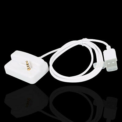 USB Charger & Sync Dock Cradle for Apple iPod Shuffle 2nd 3rd 4th 5th Gen White
