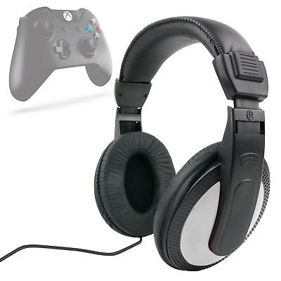 Lightweight, Silver / Black Over-Ear Headphones for Xbox One / One S Controller