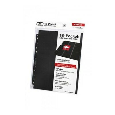 Nuevo Ultimate Guard 18-Pocket Pages Side-Loading Negro (10)