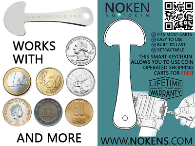 Noken - lot of 5 smart retractable trolley key