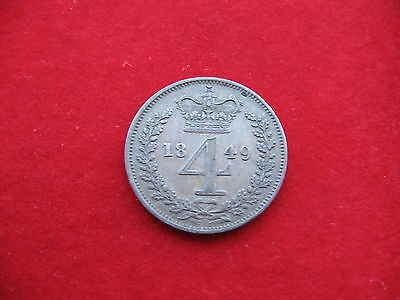 Choice 1849 Queen Victoria Silver Maundy Four pence worth a look Scarce coin!!
