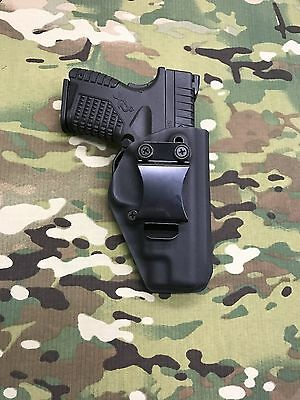 Black Kydex IWB Holster for Springfield XDS 3.3  w/adj. Retention -App
