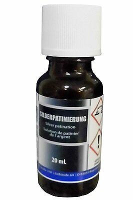 Silver patination (20 ml) - Alternative to liver of sulfur