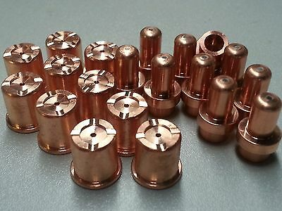 20pc Electrodes + Drag Nozzles for Eastwood© Versa Cut© 40 Plasma Torch System