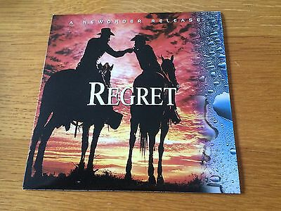 """New Order - Regret - 1993 7"""" P/s Nm - Buy 3 7""""s Pay Postage For Just 1 Worldwide"""
