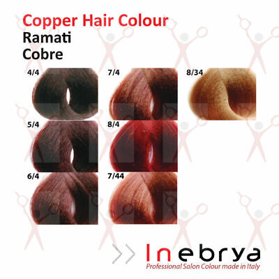 Inebrya Professional Permanent Hair Colour Dye Copper Colours