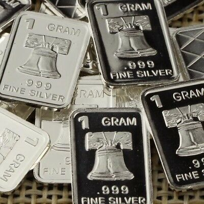 Lot 30 X 1 Gram  .999  Fine Silver Bar Bullion  / Liberty Bell      L5WPT386 oz