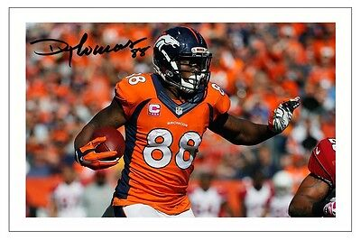 Demaryius Thomas Denver Broncos Signed Photo Autograph Print Nfl Football