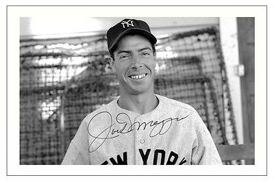 Joe Dimaggio New York Yankees Autograph Signed Photo Print Baseball