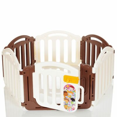 LCP Kids Baby Playpen 6 sided Playyard with safety door + playboard