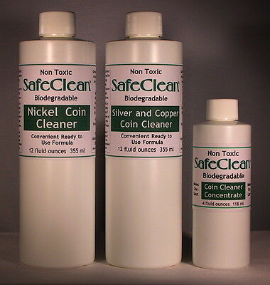 NEW! SafeClean Coin Cleaners for Modern Silver, Copper and Nickel Coins.