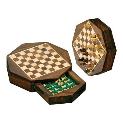 Chess - Travel Chess - Octagon - Small - Width approx. 14''