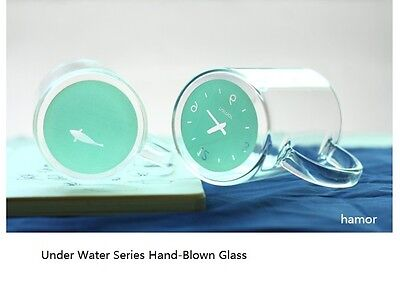 set of2 Hamor Time Hand-blown Heat Resistant Glass Under Water Cup Creative Gift
