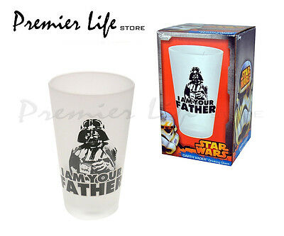 "Star Wars - Darth Vader  ""I Am Your Father"" Frosted Glass"