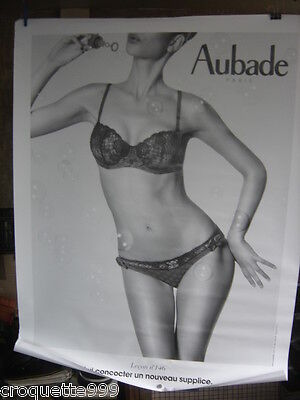 Affiche Lingerie AUBADE Leçon n°146 Poster 130 X 100 Advertising sexy pin up