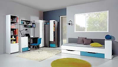 jugendzimmer zoomy mit eckkleiderschrank bett schreibtisch regal kinderzimmer eur 854 05. Black Bedroom Furniture Sets. Home Design Ideas
