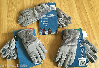 HEAD Thermal-FUR GLOVE GREY  SOFT GRIP PALM PATCHES DUPONT INSULATION