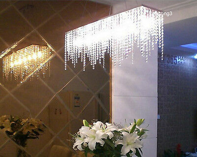 "32 "" Modern Crystal Chandelier Pendant Lamp Dining Room Lighting Fixture"