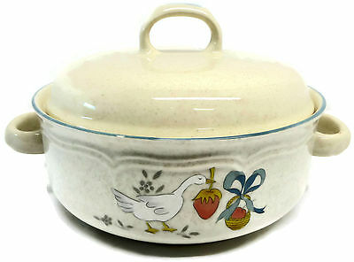 International China Marmalade Geese 1.5 Quart Round Covered Casserole