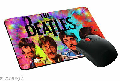 mouse pad, tappetino mouse THE BEATLES rock music pc computer desktop