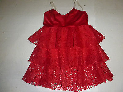 Girls Sz Child M Red STAGE COUTURE Top/Dress