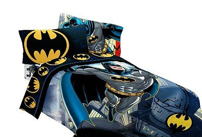 "NEW Batman 72 by 86-Inch ""From The Rooftop"" Reversible Comforter, Twin/Full"