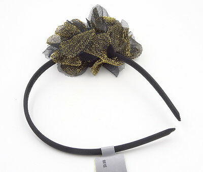 One Dozen New Wholesale Gold & Black Shimmering Headbands from Target #H0067-12