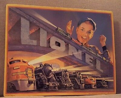 Hallmark Lionel 1952 Catalog Cover Tin Sign Replica Great American Railways