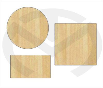 Unfinished Wood Simple Shapes Laser Cutout, Ready to Paint, Circle, Square, Rect