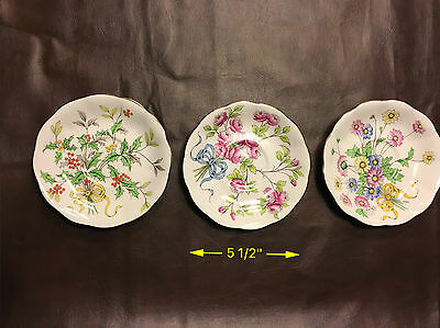 Royal Albert Bone China-Flower of the Month Saucers (Set of 3)