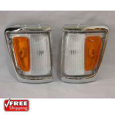 88-97 Toyota Hilux LN106 106 4X4 Chrome Indicator Corner Light Lamp 94-96 1-Pair