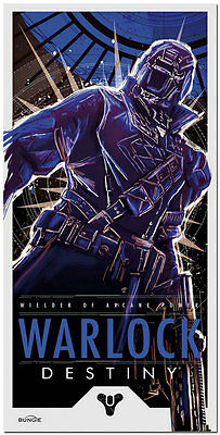 Warlock - Destiny Game Art Silk Fabric Poster Pictures 13x26 inches