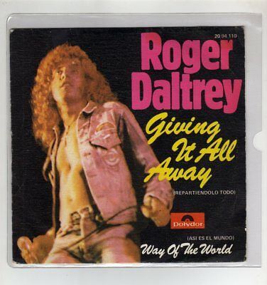 "THE WHO roger daltrey 7"" Only Spanish GIVING IT ALL AWAY 2 tracks 1973 /16"