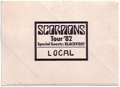 SCORPIONS - 1982 - Pass - Blackfoot - Local