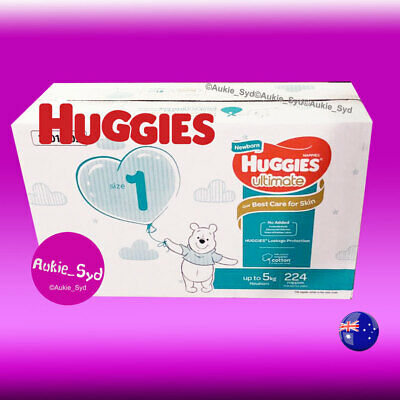 224 Huggies Ultra Dry Newborn Nappies Baby Boy Girl Nappy[好奇新生儿纸尿裤/尿不湿]