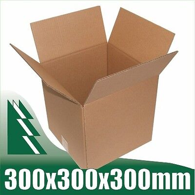 50 x Cardboard Boxes 300x300x300mm Cube Packaging Carton Mailing Box STRONG